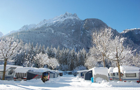 Winter am Camping Ötztal Längenfeld